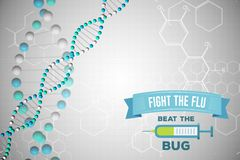 Fight the flu design. Digital composite of Fight the flu design Stock Photo