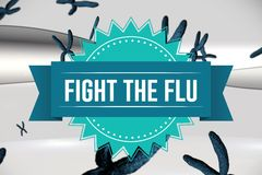 Fight the flu design Royalty Free Stock Photo