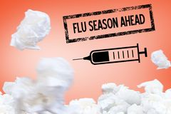 Fight the flu design Royalty Free Stock Images