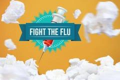 Fight the flu design. Digital composite of Fight the flu design Stock Image