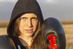 Fight girl Royalty Free Stock Image
