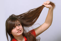 Fight with hairs Royalty Free Stock Photos