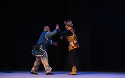 """Fight hand to hand-Peking Opera """"Taking Tiger Montain By Strategy"""" Stock Photography"""