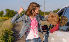 fight having two women Στοκ φωτογραφίες με δικαίωμα ελεύθερης χρήσης