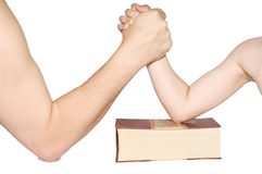 Fight on his hands Royalty Free Stock Photography