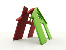 Fight home red and green.  Stock Image