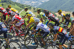 The Fight Inside the Peloton - Tour de France 2015 Stock Image