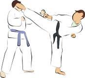 Fight and kick. Taekwondo is a martial art from Korea Royalty Free Stock Image
