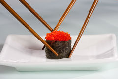 Fight for the last sushi Stock Photography