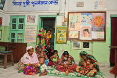 Fight For Malnutrition. Like India government a NGO also provides food and primary healthcare to children under 6 years of age and their mothers. These services Stock Image