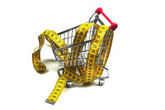 Fight obesity. Conscious shopping reduces the chance on obesity Royalty Free Stock Photography