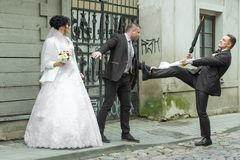 Free Fight On A Wedding Day. Stock Photo - 153714590