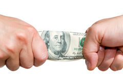 Fight over money B Royalty Free Stock Photos