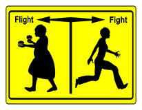 Fight Overweight. Everybody got the choice of reducing weight or continuing with bad food habits Stock Photos