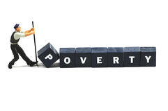 Fight poverty Royalty Free Stock Photo