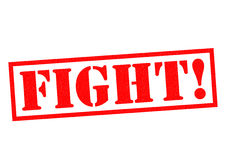 FIGHT!. Red Rubber Stamp over a white background Stock Photography
