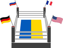 Fight ring of ukraine. Vector illustration Stock Photography