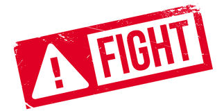 Fight rubber stamp. Grunge design with dust scratches. Effects can be easily removed for a clean, crisp look. Color is easily changed Stock Photos