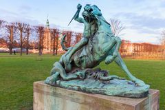 Fight with Snake sculpture in Rosenborg Royalty Free Stock Photos