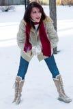 fight snowball time Στοκ φωτογραφίες με δικαίωμα ελεύθερης χρήσης