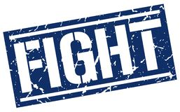 Fight stamp. Fight square grunge sign isolated on white.  fight Royalty Free Stock Photo