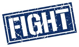 Fight stamp. Fight square grunge sign isolated on white.  fight Royalty Free Stock Photography