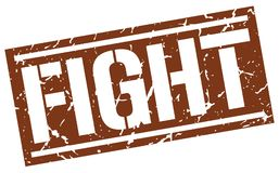 Fight stamp. Fight square grunge sign isolated on white.  fight Stock Photos