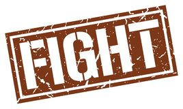 Fight stamp. Fight square grunge sign isolated on white.  fight Stock Photo