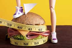 Fight to Lose Weight With Diets Stock Photography