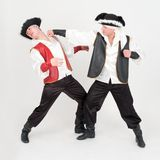 Fight. Two boys in pirate costumes. Stock Image