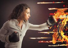 Fight a virus attack Royalty Free Stock Images