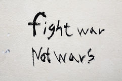 Fight war not wars Royalty Free Stock Photo