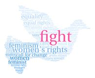 Fight Word Cloud. On a white background Royalty Free Stock Photos