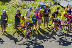 The Fight for Yellow - Tour de France 2016 Royalty Free Stock Photos