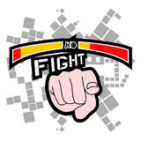 Fight you. Creative design of hand pointing Royalty Free Stock Image