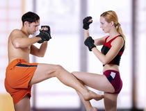 Fight of young couple royalty free stock image