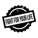 Fight For Your Life rubber stamp Stock Image