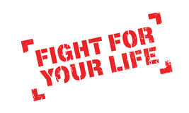 Fight For Your Life rubber stamp Stock Photography