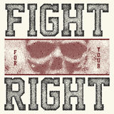 Fight for your right slogan. Fight for your right halftone  illustration Royalty Free Stock Photography