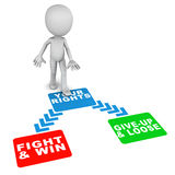 Fight for your rights Stock Images