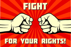 Fight for your rights, solidarity, revolution vector poster Royalty Free Stock Photos