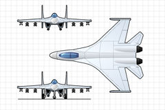 Fighter. Illustration of a pursuit plane.  Simple gradients only - no gradient mesh Stock Photography
