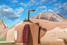 Fighter aircraft cabin  with blue sky Royalty Free Stock Photo