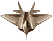 A fighter aircraft. Illustration of a fighter aircraft on a white background Stock Image