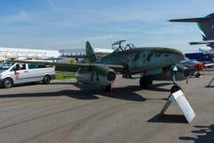 Fighter aircraft Messerschmitt Me 262 B-1a Schwalbe modern replica. BERLIN, GERMANY - MAY 21, 2014: Fighter aircraft Messerschmitt Me 262 B-1a Schwalbe modern Stock Photos