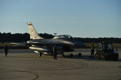 Fighter aircraft on the runway Royalty Free Stock Images