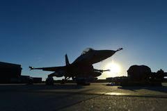 Fighter aircraft on the runway Stock Photos