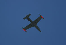 Fighter aircraft in the sky Royalty Free Stock Image