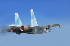 Fighter aircraft of the SU-27 Stock Photos