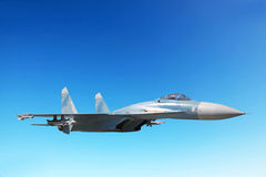 Fighter aircraft of the SU-27 Royalty Free Stock Photography